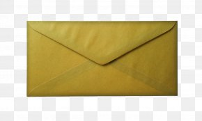 Envelope - Line Triangle Yellow Envelope PNG