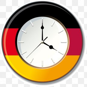 Flag Of Clock Time Element - Flag Of Germany Clock Wall Decal PNG