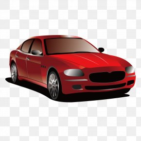 Red Car Vector - Water Transportation Car Mode Of Transport PNG