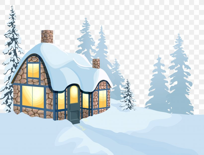 Winter House Clip Art, PNG, 8175x6221px, Snow, Cottage, Elevation, Facade, Home Download Free