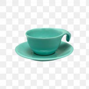 Saucer - Aqua Turquoise Tableware Teal Saucer PNG