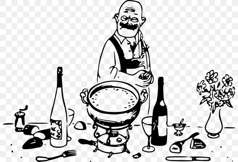 Chef Clip Art Png 800x557px Chef Art Black And White Cartoon Cooking Download Free
