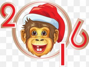 2016 Cartoon Monkey Pattern - Chinese New Year Monkey Cartoon PNG