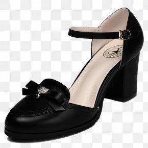 Oh Black Bow Heels - High-heeled Footwear Shoelace Knot Vans Woman PNG