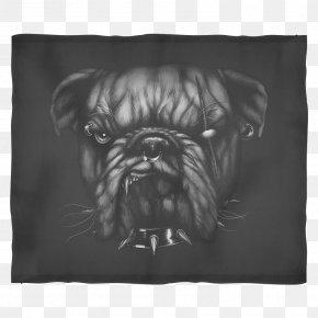 Pillow - Pug Dog Breed Pillow Cushion Drawing PNG