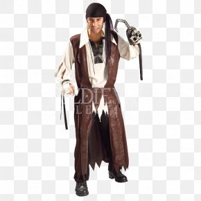 Pirate Costume - Costume Party Halloween Costume Piracy Caribbean PNG