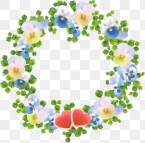 Flower Wreath - Flower Wreath Garland Disk PNG