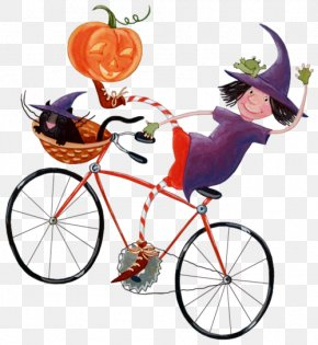 The Witch Riding A Bike - Halloween Message Boszorkxe1ny Orkut PNG