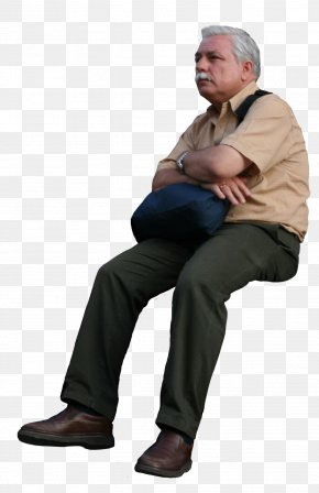 Sitting Man - Grandfather Rendering Texture Mapping PNG