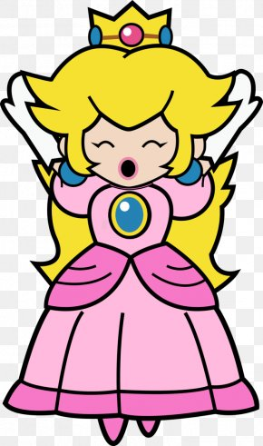 Peach Clipart - Super Princess Peach Super Paper Mario Rosalina PNG