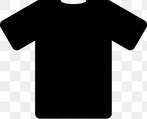 T-shirt Black - T-shirt Jersey Clothing Fashion PNG