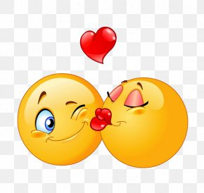 Sweet Kiss - Emoticon Smiley Kiss Clip Art PNG