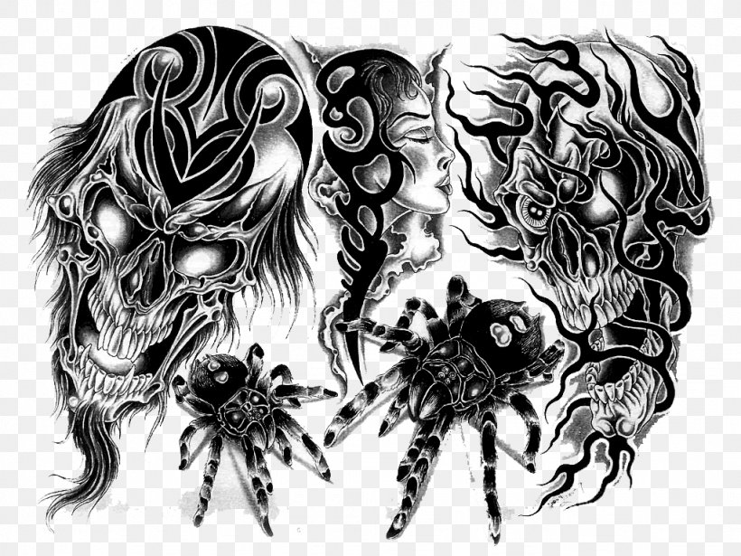 Tattoo Desktop Wallpaper Clip Art Png 1024x768px Tattoo Art Black And White Body Art Display Resolution