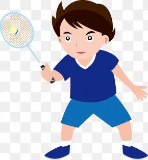 Children Playing - Badminton Sport Racket Shuttlecock Clip Art PNG