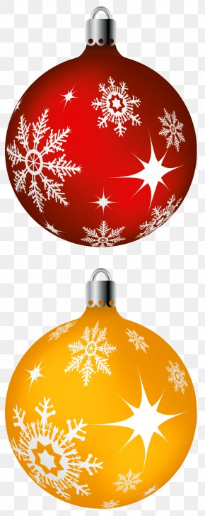 Red And Yellow Christmas Balls Clipart Picture - Christmas Ornament Christmas Decoration Santa Claus Clip Art PNG