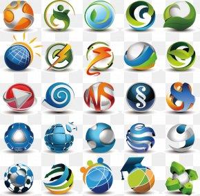 3D Vector Metallic Aesthetic LOGO - Logo Adobe Illustrator Template PNG