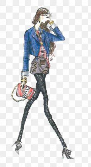 High-end Women's Fashion Design Illustration - New York Fashion Week Fashion Design Designer Fashion Illustration PNG