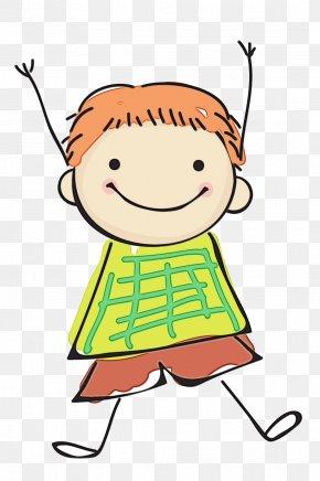 Child Pleased - Cartoon Clip Art Line Cheek Happy PNG