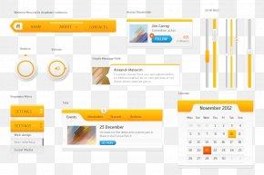Yellow UI Kit - User Interface Design Download PNG
