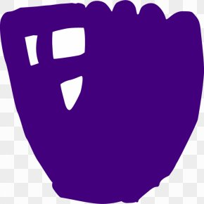 Purple Softball Cliparts - Fastpitch Softball Baseball Glove Clip Art PNG