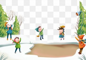 Snow Play - Snow Winter Child PNG