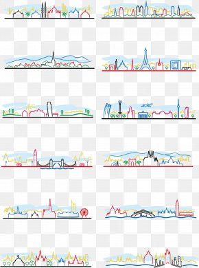Cartoon Stick Figure Lines City - Building Celebrity Silhouette Architecture PNG