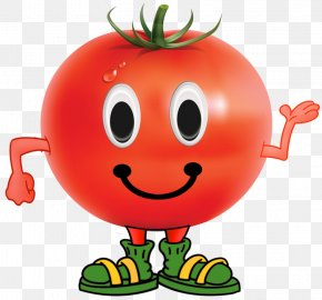 Fruits And Vegetables, Melons Funny Smiley - Tomato Fruit Vegetable PNG