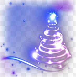 Cool Christmas Tree Vector Material - Christmas Tree Light PNG