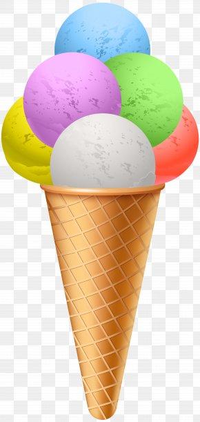 Ice Cream Transparent Clip Art Image - Ice Cream Cone Gelato Ice Pop PNG