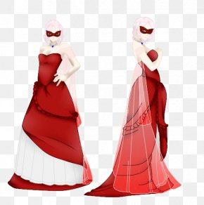 Costume Ball - Santa Claus Costume Design Dress Gown PNG