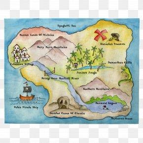 2014 New Year Party Poster - Treasure Map Fantasy Map World Map PNG