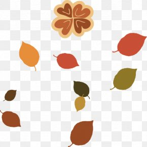 Vector Autumn Leaves To Pull Material Effect Element Free - Autumn Leaf Clip Art PNG