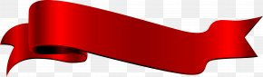 Red Ribbon Label - Red Angle Font PNG