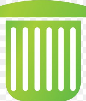 Green Trash Can - Logo Paper Waste Container Material PNG