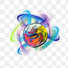 Color Volleyball - Volleyball Color PNG