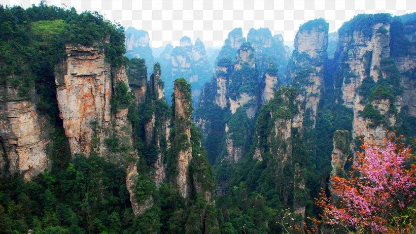 Zhangjiajie National Forest Park Tianmen Mountain Avatar Hallelujah Mountain Kuala Lumpur Package Tour, PNG, 1920x1080px, Zhangjiajie National Forest Park, Avatar Hallelujah Mountain, Biome, Canyon, China Download Free