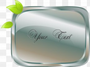 Vector Creative Soap - Glass Rectangle Font PNG