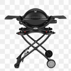 Black Line On Demand - Barbecue Weber Q 1000 Weber 6557 Q Portable Cart For Grilling Weber-Stephen Products Weber Q Cart PNG