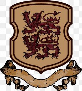 Retro Metal Shield Lion Medieval Stamp - Heraldry Escutcheon Euclidean Vector Clip Art PNG
