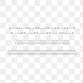 Needle Stitched Dividing Line Material - Line Black And White Angle Point PNG