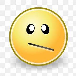 Confused Smiley - Smiley Emoticon Face Clip Art PNG