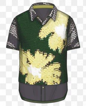Men's Short Sleeve Pattern T-shirt - T-shirt Sleeve Designer Collar PNG