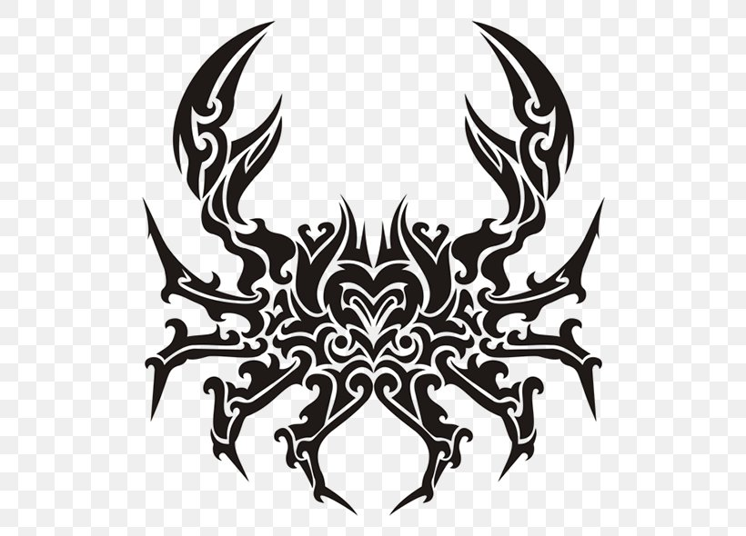 Polynesia Crab Tattoo Cancer Zodiac Png 600x590px Polynesia Astrological Sign Astrology Black And White Cancer Download