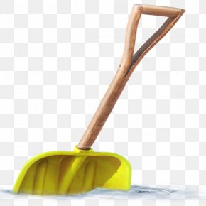 Yellow Snow Shovel - Snow Shovel PNG