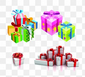 Gift Heap - Gift Wrapping Decorative Box Clip Art PNG