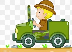 Cartoon Boy Driving - Jeep Safari Royalty-free Clip Art PNG