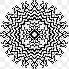 Line Art - Mandala Line Art Drawing Clip Art PNG