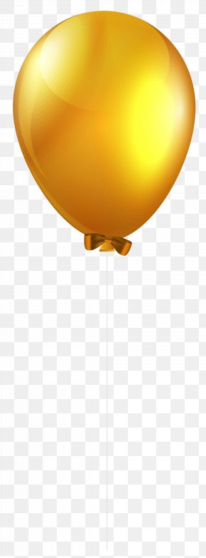 Yellow Single Balloon Clip Art Image - Yellow Lighting Font Design PNG