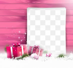 Christmas Border - Christmas Card Gift Greeting Card Pink PNG