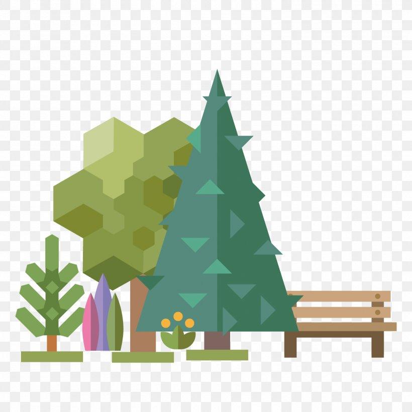 Xikang Park Illustration, PNG, 1500x1500px, Flat Design, Christmas Decoration, Christmas Ornament, Christmas Tree, Conifer Download Free
